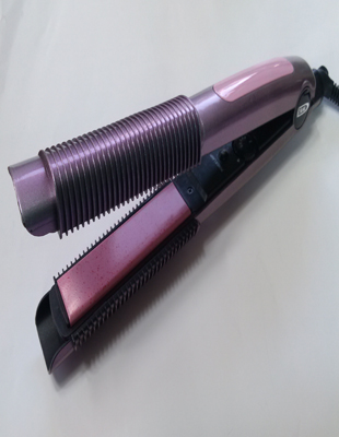 Professional straightener with curling cover